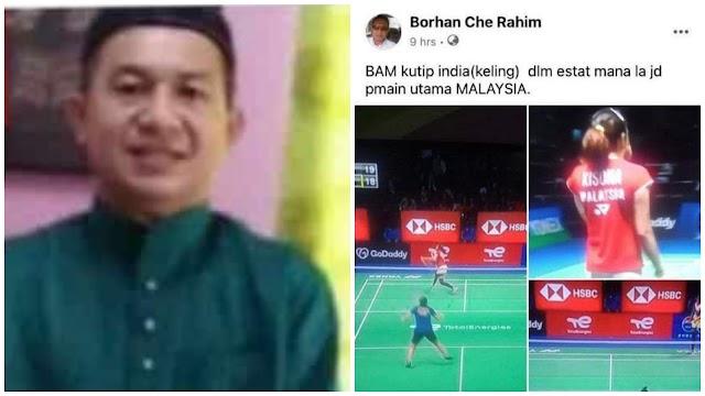 Naib Ketua Bersatu Pasir Puteh mohon maaf hina pemain badminton negara