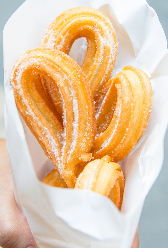photo of churros wrapped in paper