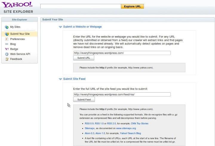 Site Explorer Web Services - YDN - Yahoo Developer Network