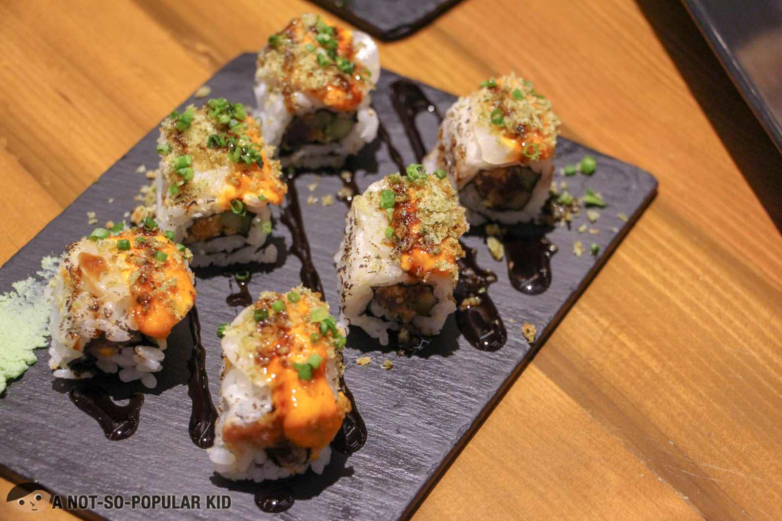 Scallop and Tuna Aburi Maki of Ooma