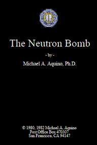 Cover of Michael Aquino's Book Neutron Bomb