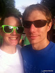 Hubs and I before the race. It was hot and steamy, hence the camera lens fog.