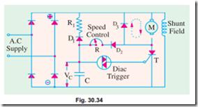 Speed control of d c  Motors:Thyristor Speed Control of