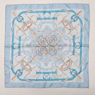 Hermès Baby Blue Handkerchief Scarf