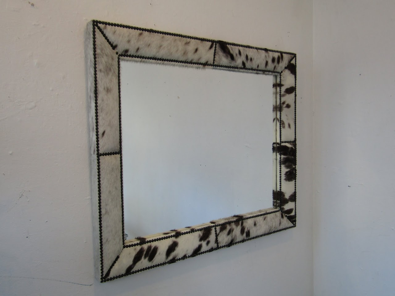 Cowhide Framed Mirror