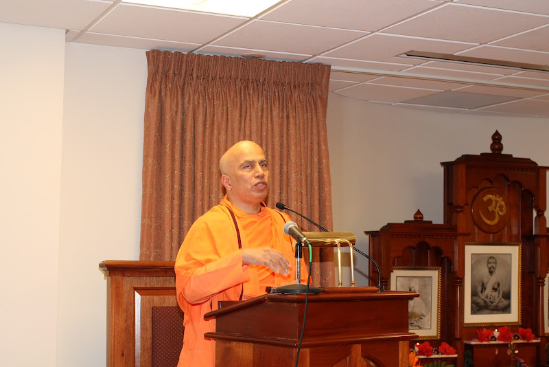 Day 1 Swami Tyagananda spoke on Swami Vivekananda