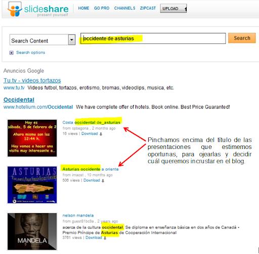 buscar presentación slideshare