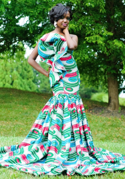 The traditional African brides Print Dress Styles - Fashion 2D