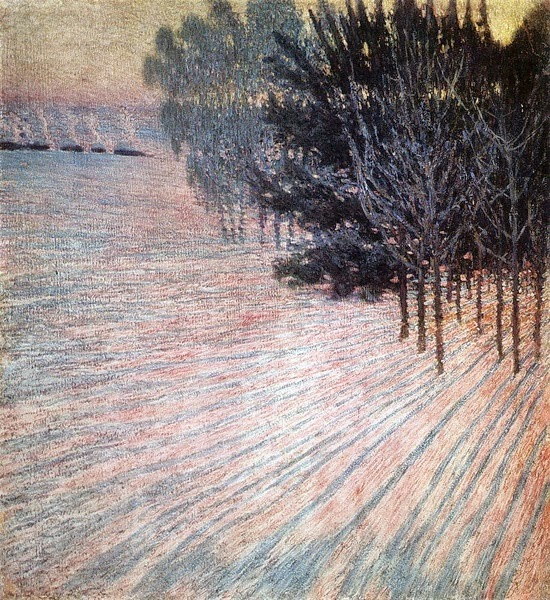 Igor Grabar - Frosty Morning. Pink Rays