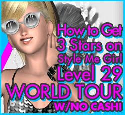 Style Me Girl Level 29  - World Tour - D'Are - Stunning! Three Stars