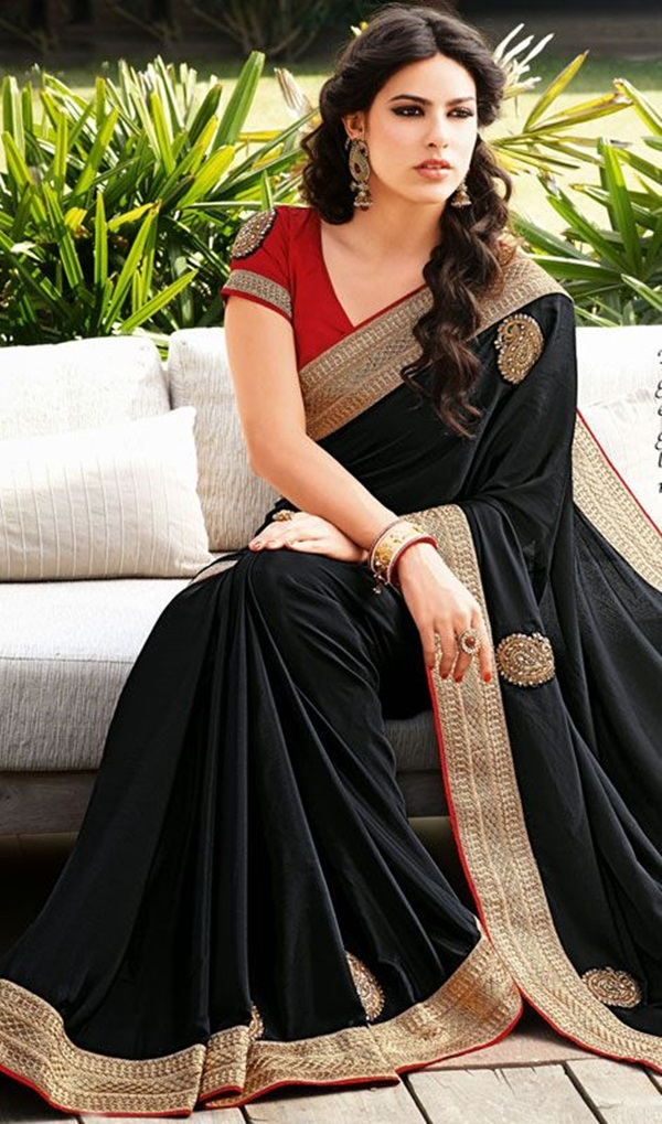 style file sweet traditional indian saree 2016