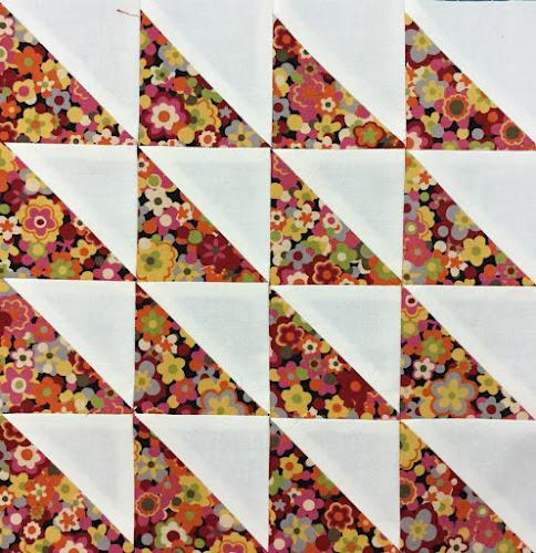 Block 2: 16 HST quilt sampler - beginner quilt