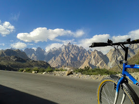 Passu Cathedrals as seen from Hussani village