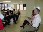 Gerhard Fuchs e Teresa Santos dirigem conversa sobre experiências em rede.