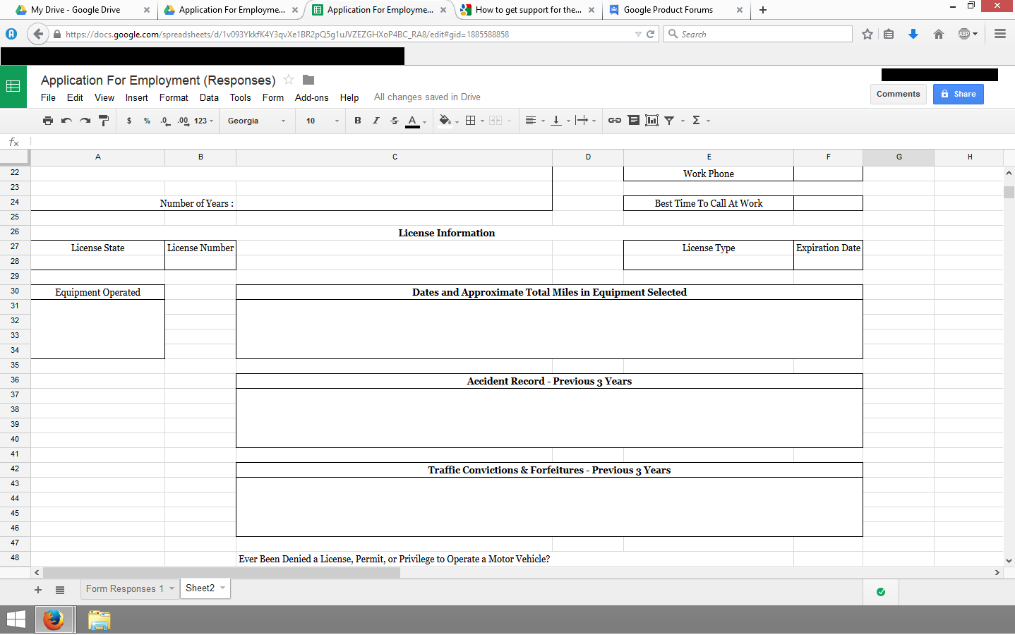 Google Sheets leaving some fields blank when printing. - Ayuda de ...