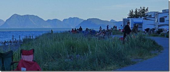 10 pm along Seward Waterfront Park