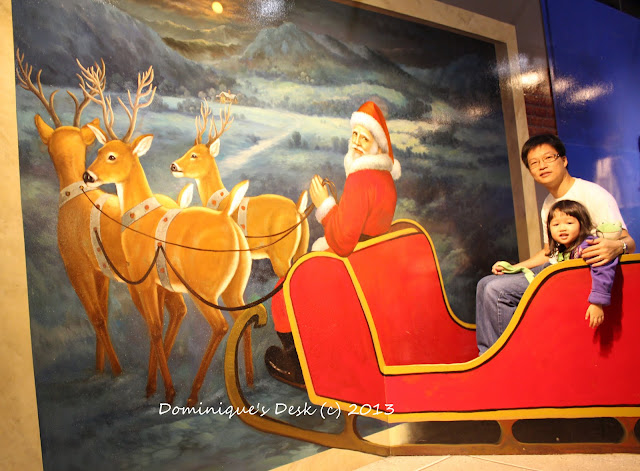 Siting in Santa's Sleigh