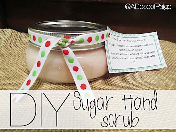 DIY Sugar Hand Scrub by A Dose of Paige