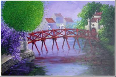 Cây Cầu - Tranh tri ân tặng thầy cô