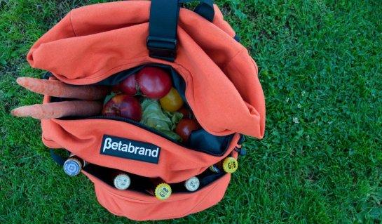 Orange Cornucopia Bag