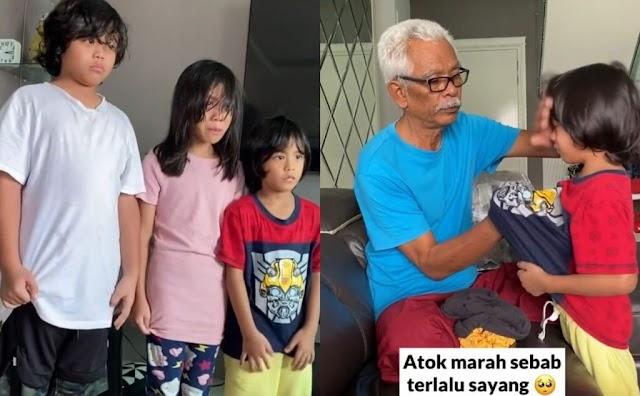 Tiga anak Shuib, Siti Sarah 'dimarahi' datuk, netizen yang menangis