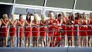 Fernando Alonso with Pitgirls