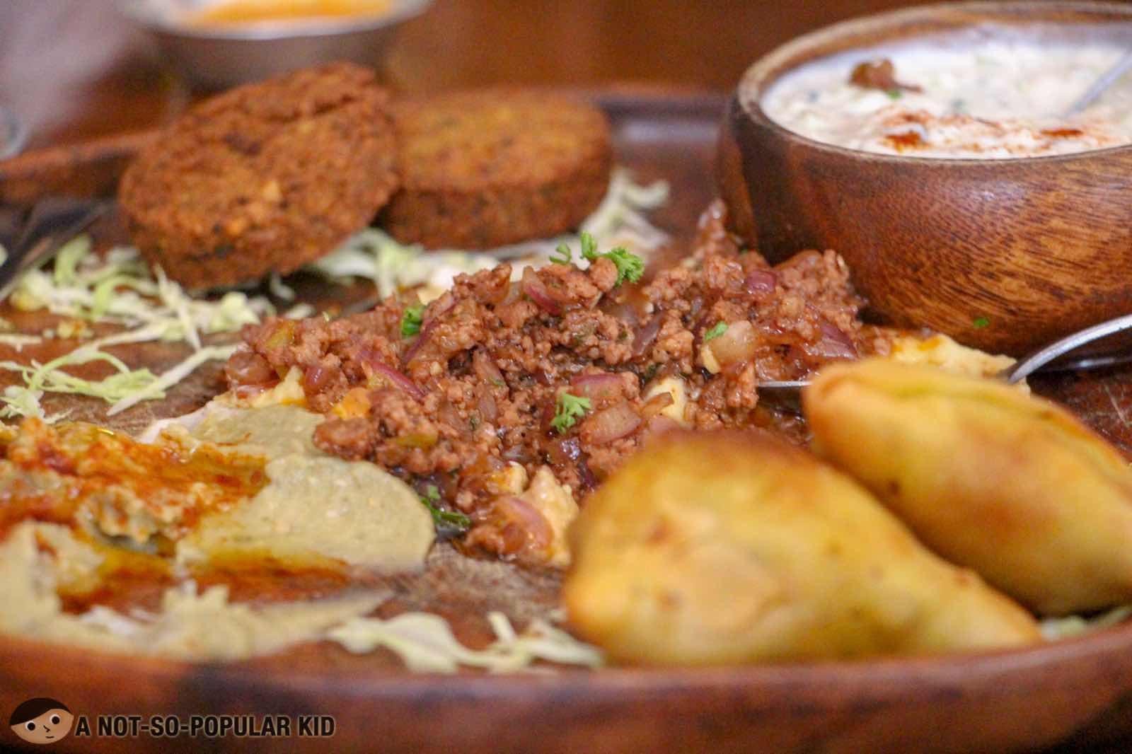 Mezze Sampler of Kite Kebab Bar