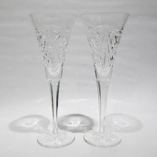 Waterford Crystal Wine Flutes  Set of 2