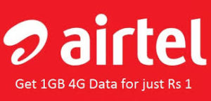 Airtel 4G Data loot – Get 1GB 4G Data For Re 1 (Rajasthan Only)