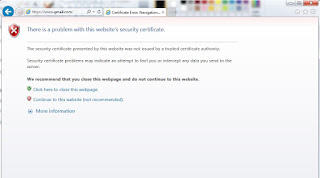"""Your connection is not private"""" error - Google Product Forums"""