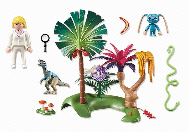 Contenido real de Playmobil® 6687 Isla Perdida con Alien y Raptor