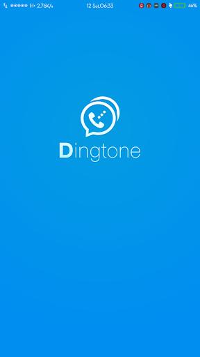 Tampilan awal Dingtone