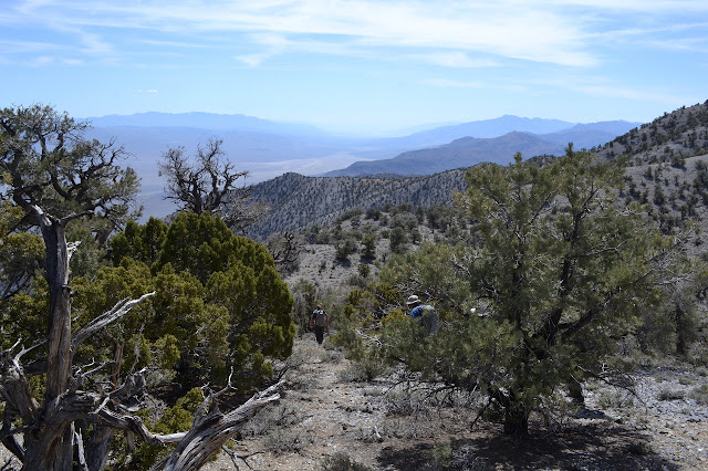 hiking downward