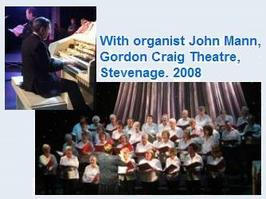 With organist John Mann Gordon Craig Theatre Stevenage 2008