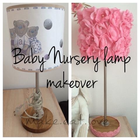 How To Diy A Flower Lamp For Baby Nursery Diy Baby Nursery Lamp