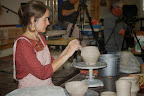 Joy assembling a teapot