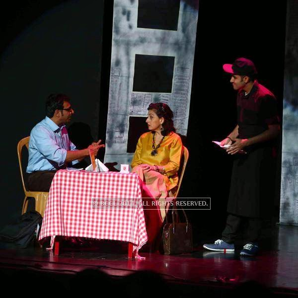 Staging of an English play, Boiled Beans on Toast, written by Girish Karnad and directed by Lillete Dubey, held at JT PAC in Kochi.