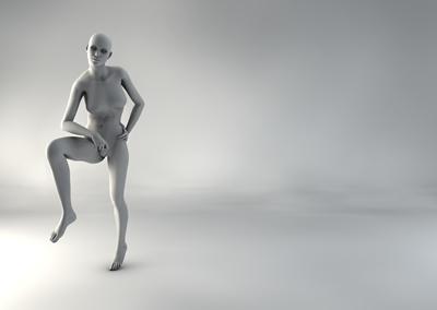 femme 3D pose naturelle SP 15