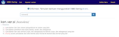 KBBI daring untuk mengecek ejaan bahasa indonesia