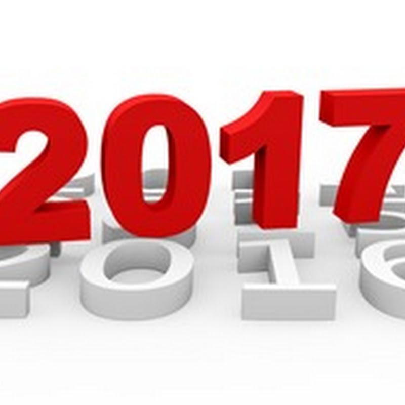 Простой вертикальный календарь на 2017 год