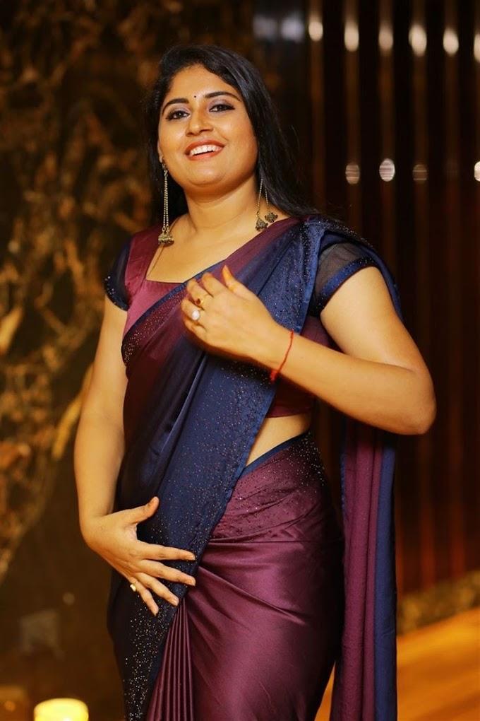 Telugu Actress Sonia Chowdary Saree Photoshoot Without Face Makeup