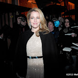 WWW.ENTSIMAGES.COM -  Gillian Anderson   arriving at    The Charles Finch & Chanel Pre-BAFTA Dinner at Annabel's in Berkeley Square London February 9th 2013                                                      Photo Mobis Photos/OIC 0203 174 1069