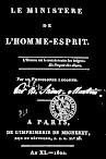 Le Ministere de l'Homme Esprit (1802,in French)