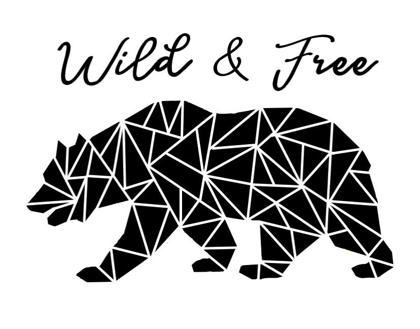 Wild and Free Geometric California bear