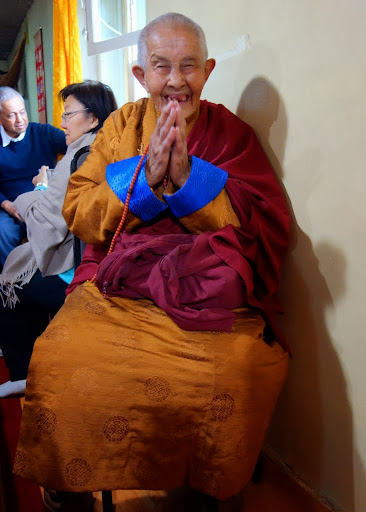Nun who is 100 years old at Drolma Ling Nunnery, Ulaanbaatar, Mongolia, September 3, 2013. Photo by Ven. Roger Kunsang.