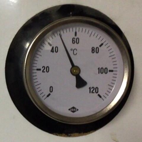 Thermostat des Heißwasserkessels