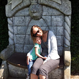 Met de mammie in Bellewaerde