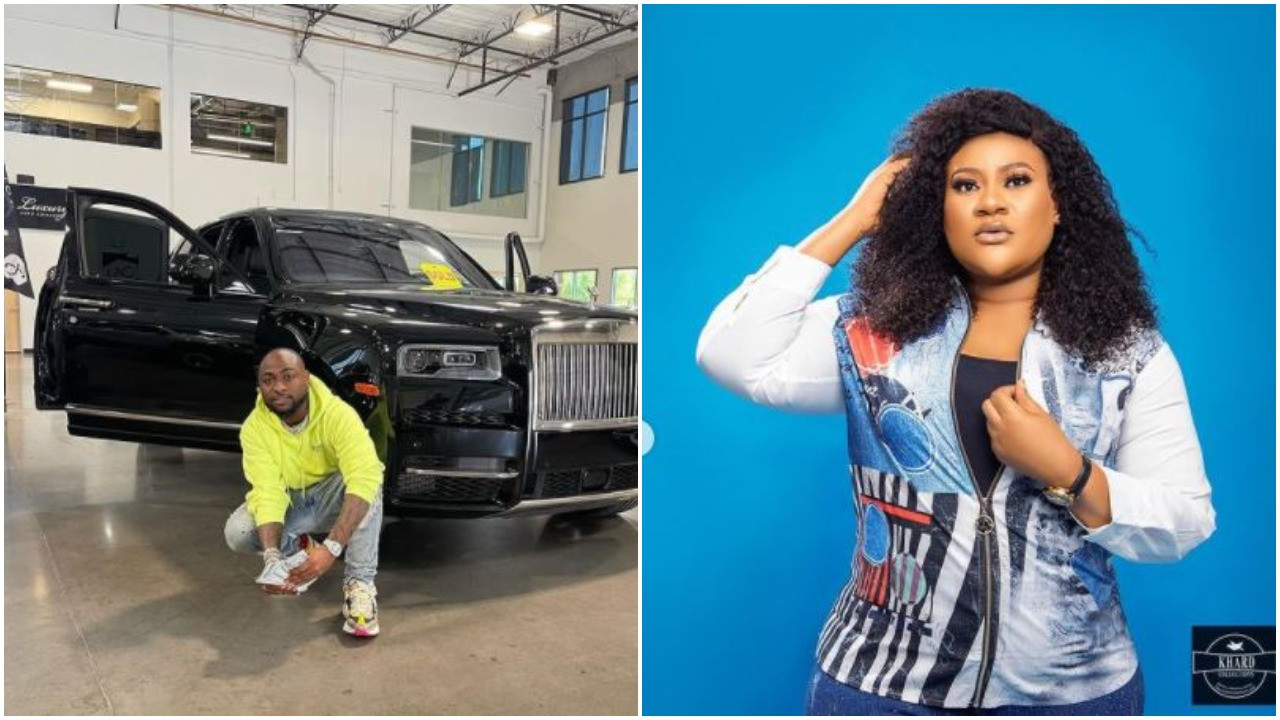 Davido's 2021 Rolls Royce came with no nylon, but you all buy upgraded cars with bread nylon all over - Actress, Nkechi Blessing Sunday
