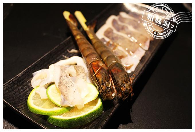 五角銀燒肉澎湖軟絲拼大蝦