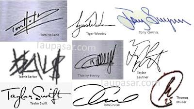tanda tangan huruf T